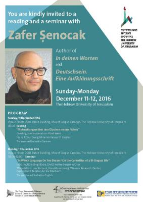Zafer Senocak Poster