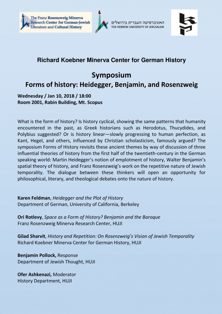 Symposium Forms of History