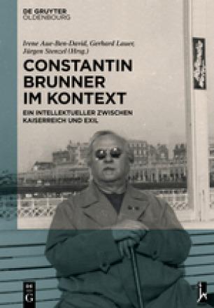 "Review of the book ""Constantin Brunner im Kontext"", edited by Irene Aue-Ben-David, Gerhard Lauer and Jürgen Stenzel."