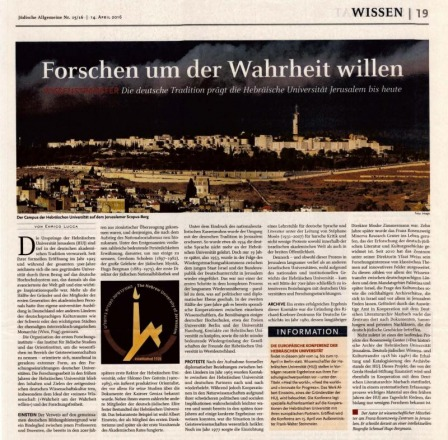 """Forschen um der Wahrheit willen"": Article by Enrico Lucca on the Project at the University's Archive"